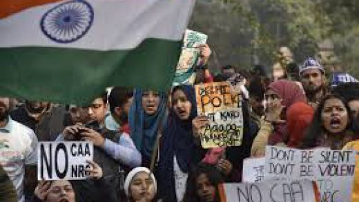 Protests in New Delhi against India's citizenship law ahead of Trump visit